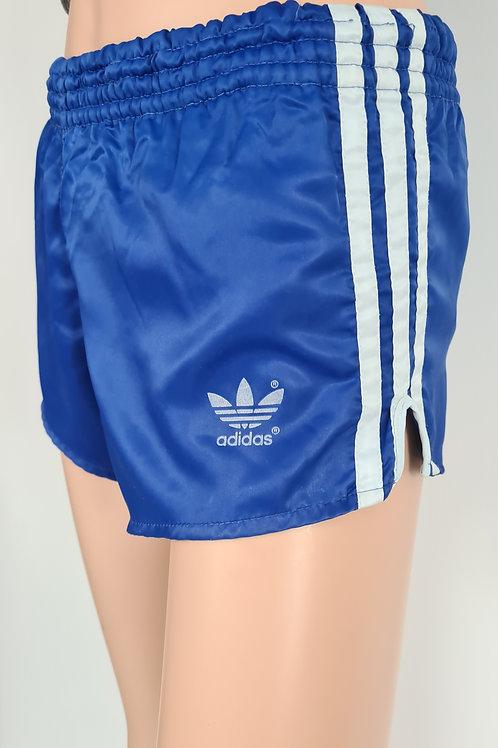Vintage Blue Adidas Short Shorts with Three Stripe Detail XXS