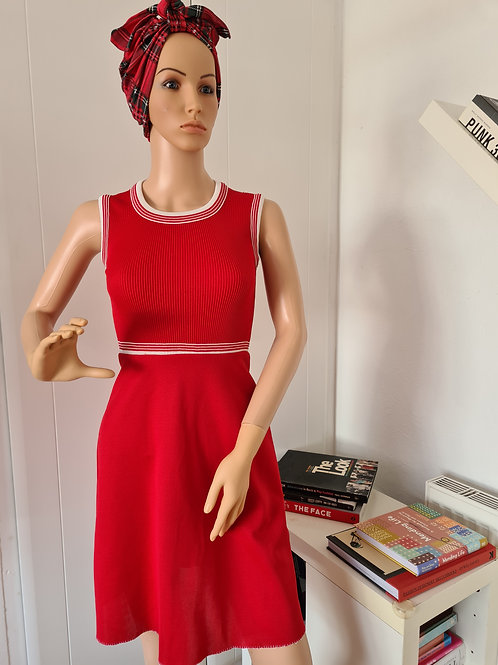 Vintage 1960s Little Red Dress from ILGWU S