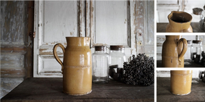 「フランス19世紀 南仏の陶器 ポタリージャグ」年代:推定1840年代 全高:300mm 全幅:212mm 奥行:158mm