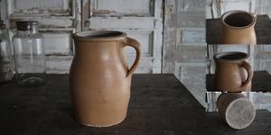 フランス ノルマンディー 陶器 ポタリージャグ