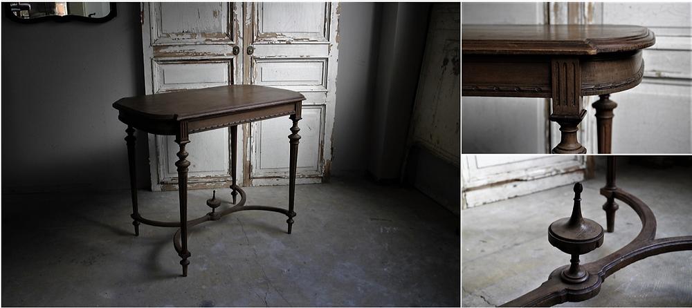 彫刻が美しいルイ16世様式のフレンチテーブル