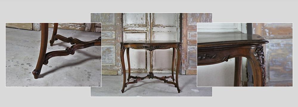 ルイ15世様式 彫刻が美しいフレンチテーブル