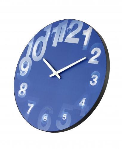 NEXTIME 3077BL 3D wall clock wandklok fa