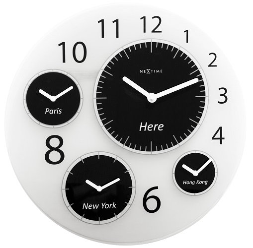 NeXtime Big World large round wall clock
