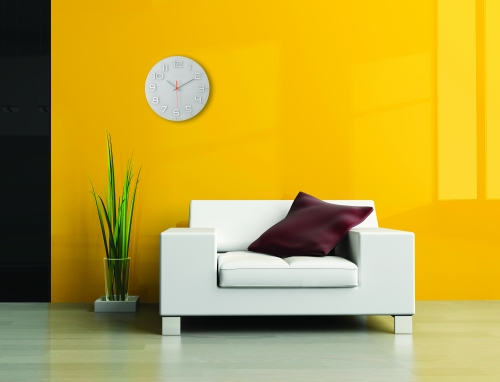 NeXtime Classy Round elegáns üveg dekor falióra