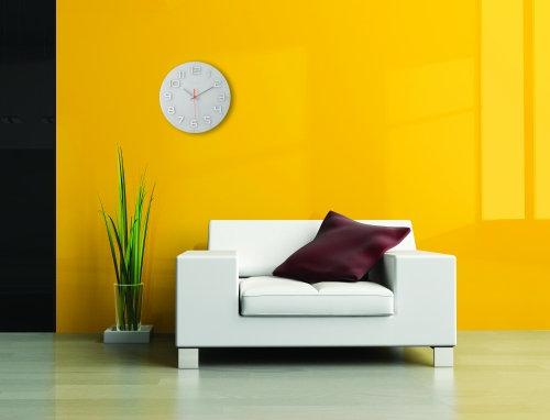 NeXtime Classy Round 30 cm glazen design wandklok