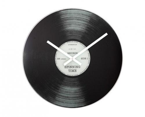 NeXtime Spinning Time ronde glazen design klok