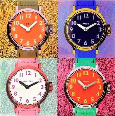 NeXtime Time Zones square vierkante négy