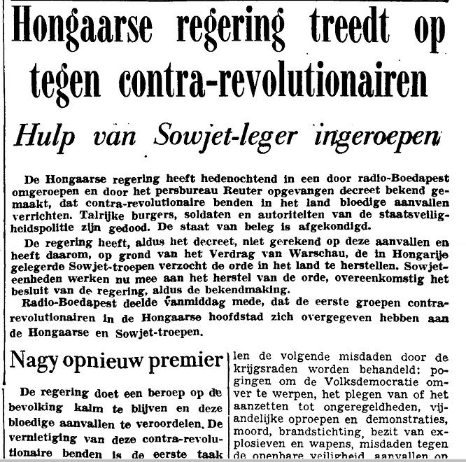 3rd page of Het Vrije Volk 24 October 1956