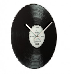 NeXtime Spinning Time 43 cm glass design clock