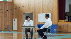 左:カウンセラー役(高知大学 精神科医) 右:校長先生(清水中学校)