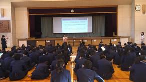 防災講演会の実施(@霞ケ関西中学校)