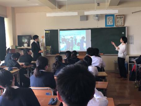寺尾中学校での写真授業