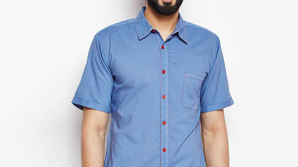 Men Chamber Detailed Oxford Shirt