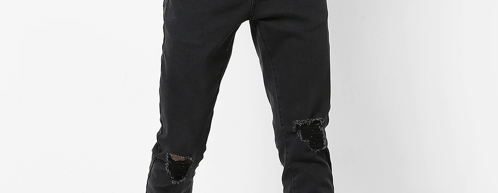 Men Low-Rise Carrot Fit Distressed Jeans