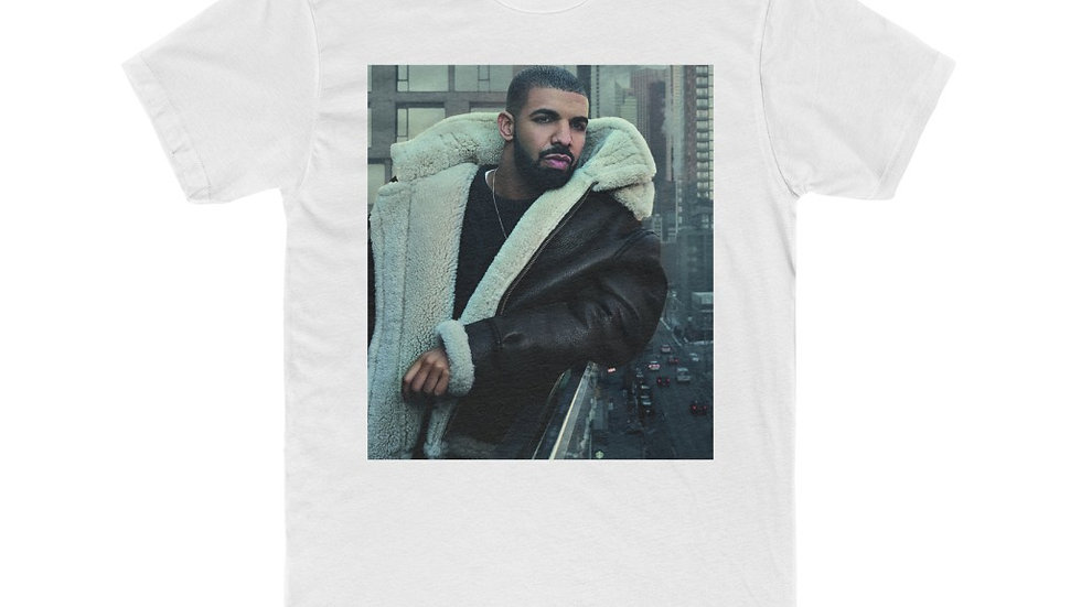 Men's Drake Printed Cotton Crew Tee