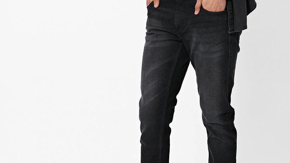 Men Mid-Rise Washed Jeans with Insert Pockets