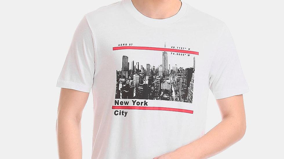 AEROPOSTALE Regular Fit NY City Printed T-Shirt