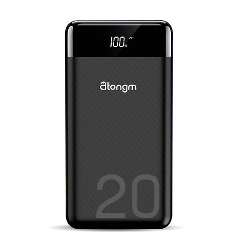 atongm 20000mAh Power Bank, Portable Double USB Port Li-Polymer External Battery
