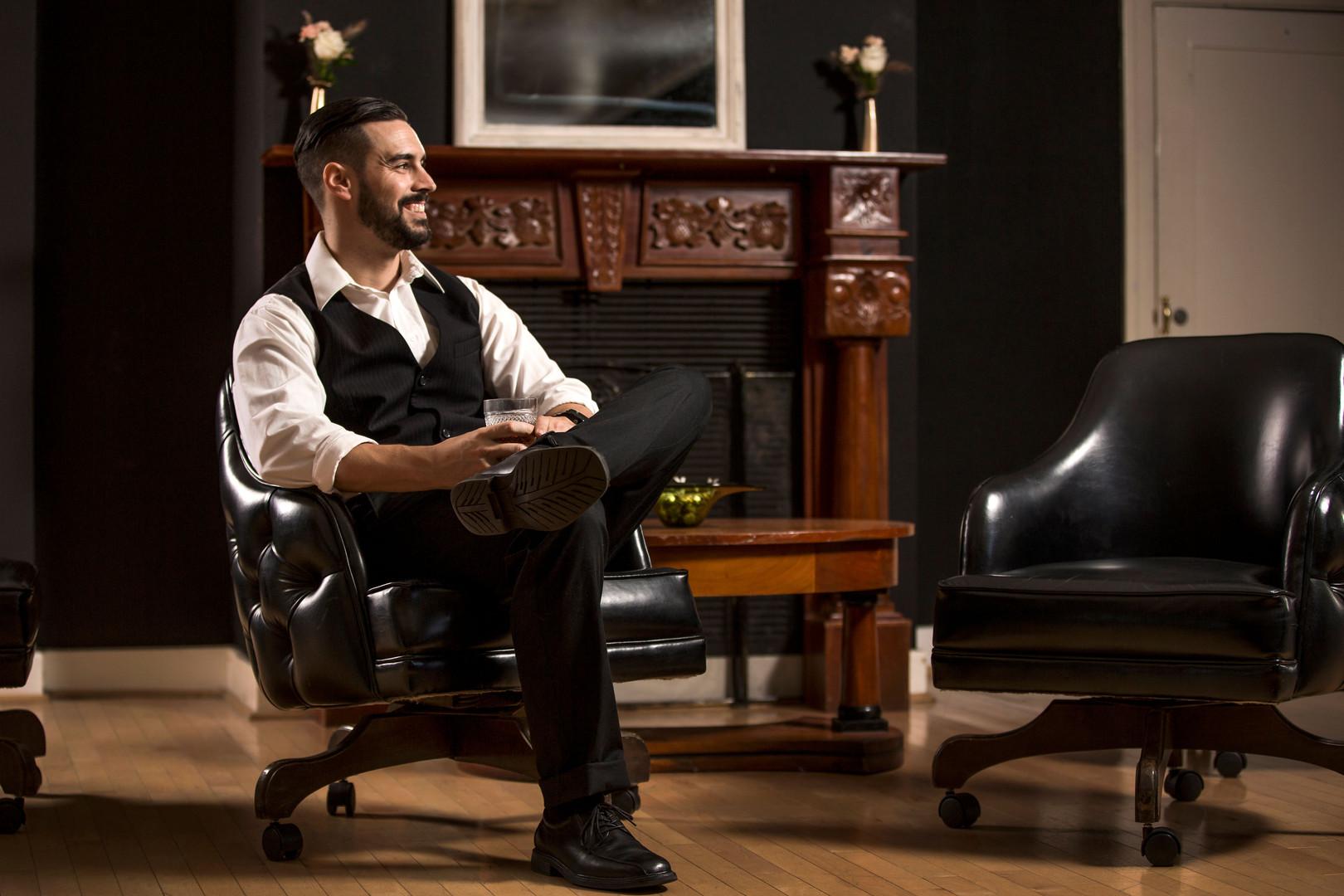 The Amerige Room - Groom Portraits