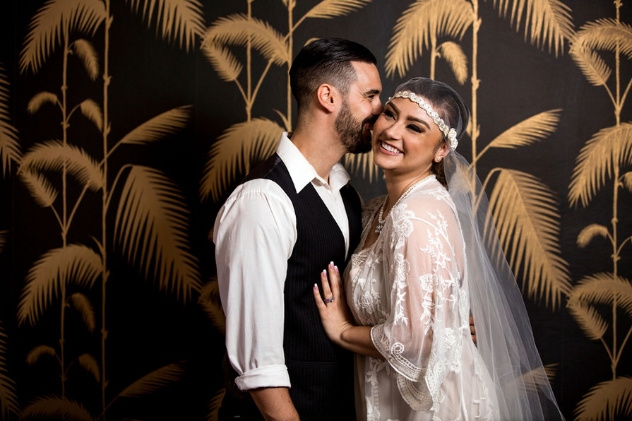 Grand Opening Photoshoot - Bride and Groom in Lobby