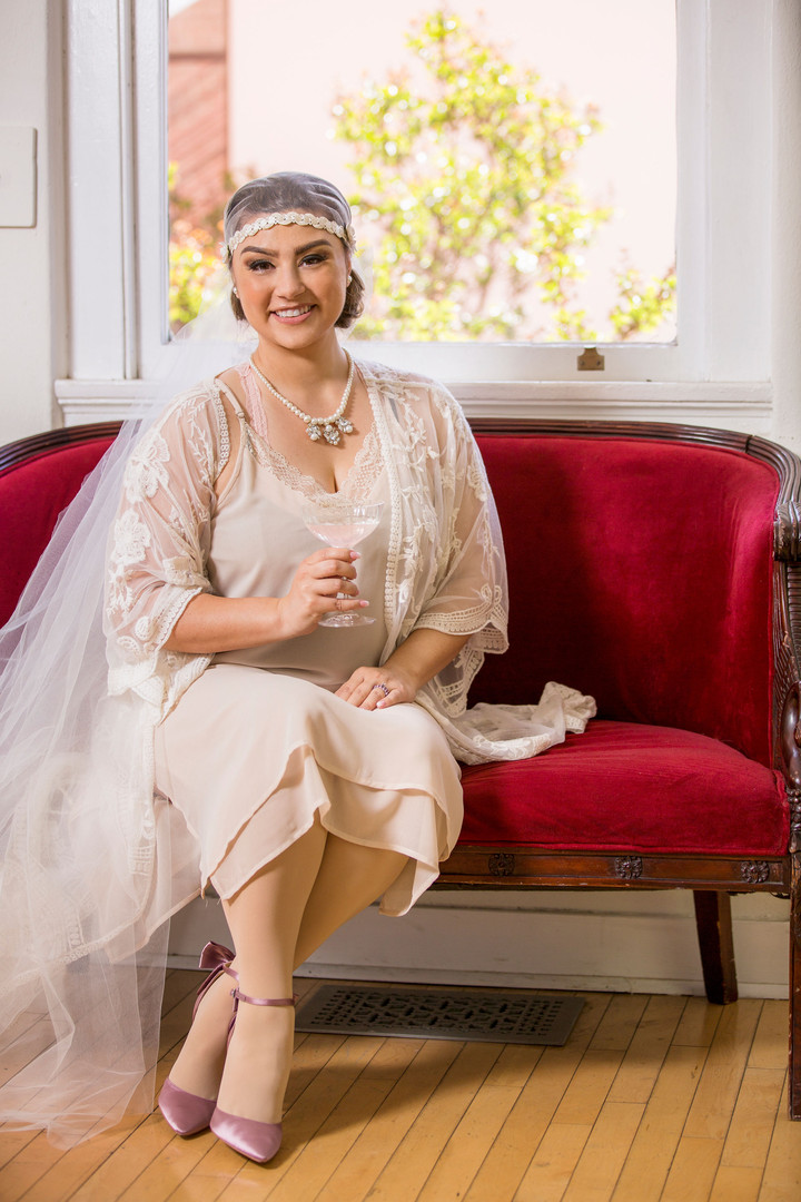 Grand Opening Photoshoot - Bride in The Wilshire Room (Bridal Suite)