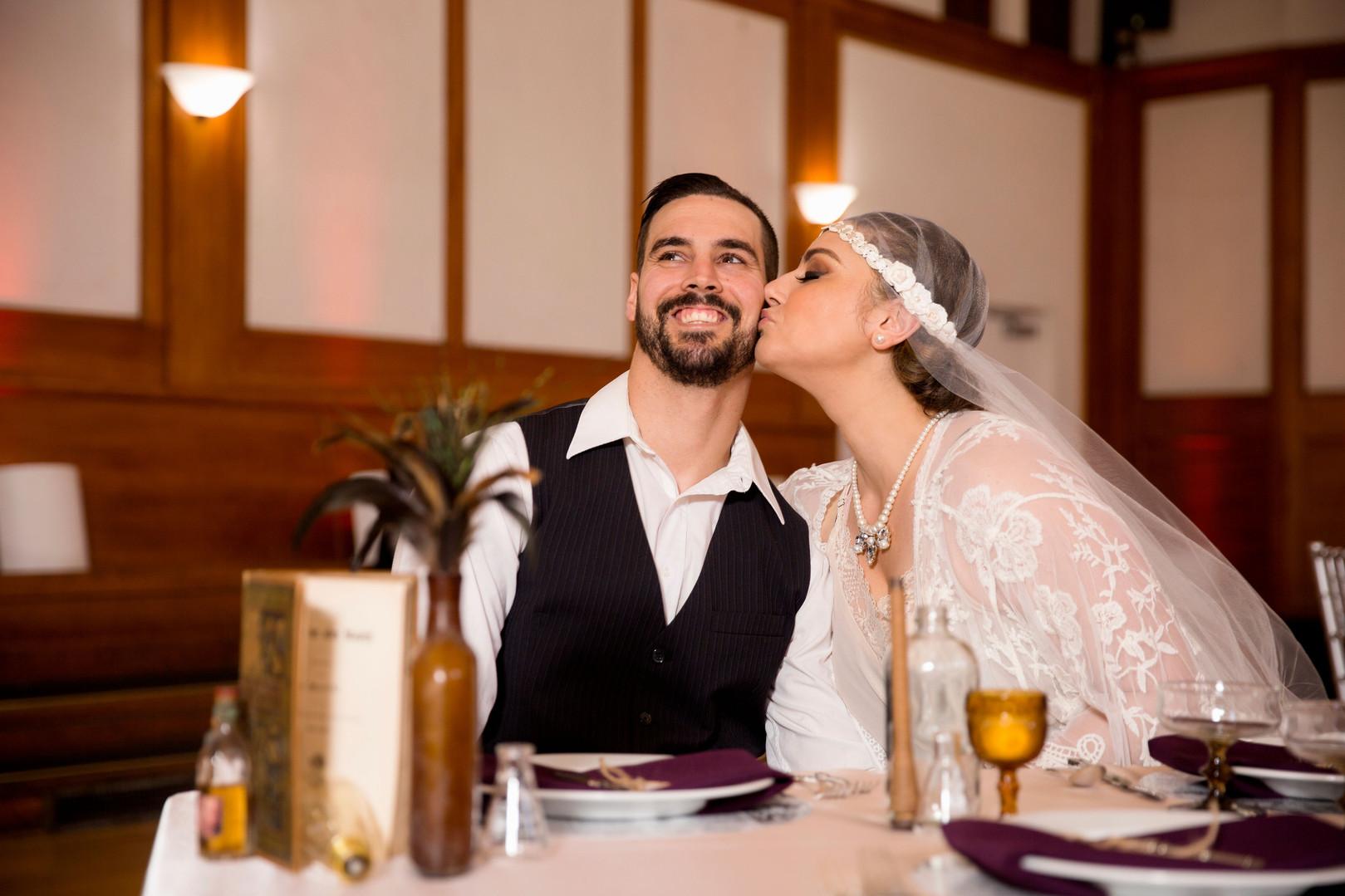 Grand Opening Photoshoot - Bride and Groom in Fullerton Room (Main Ballroom)