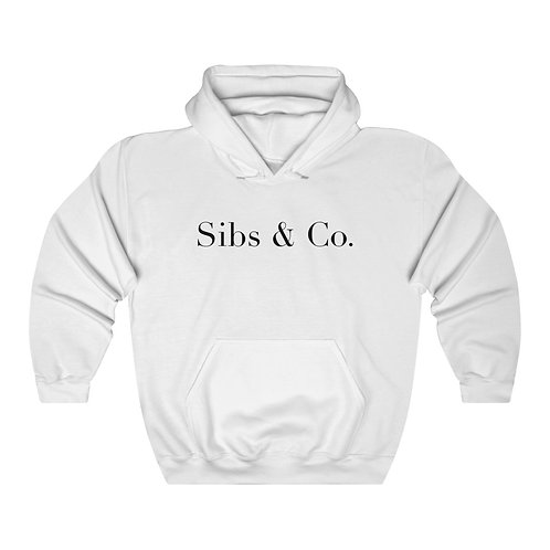 "Sibs & Co. ""Signature"" Hoodie (White)"