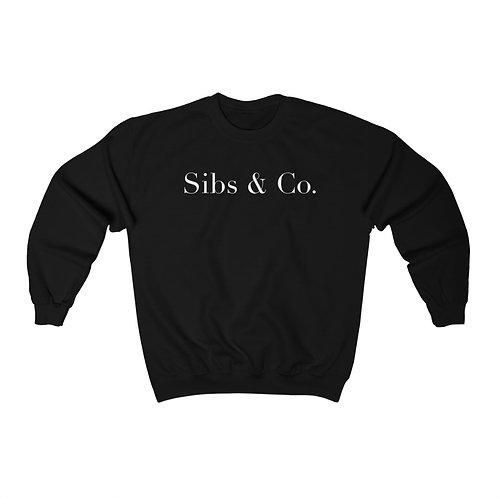 Sibs & Co. Crewneck Sweatshirt (Black)