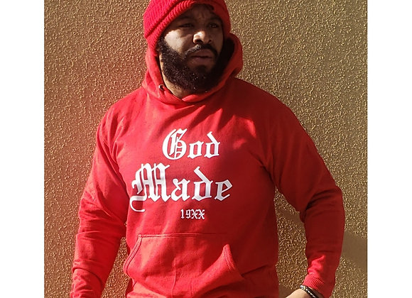 God Made 19XX Red Hoodie