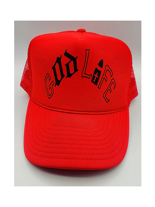 God Life Red Trucker Hat