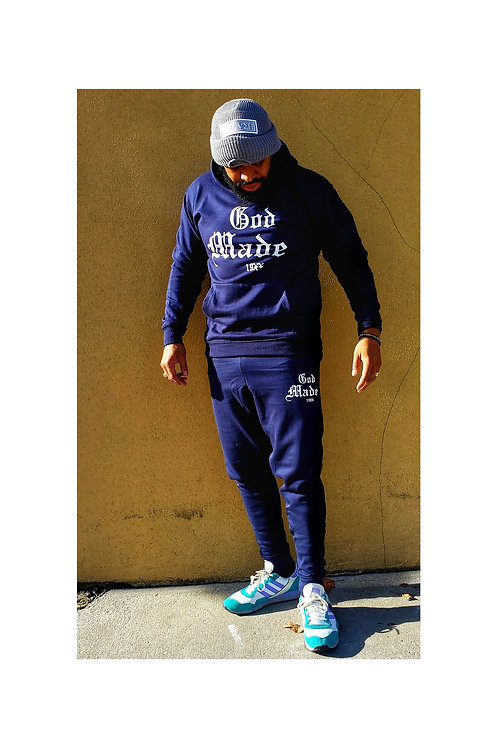 God Made 19XX Full Sweatsuit (Navy Blue)
