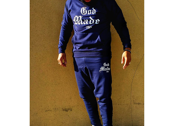God Made 19XX Full Sweatsuit (Navy Blue)