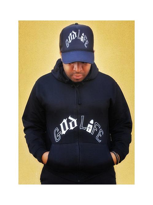 God Life Zip Up Hoodie