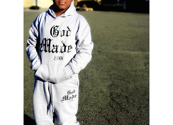 "God Made 20XX Youth SweatSuit ""Top and Bottom"""