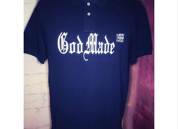God Made 19XX Polo Shirt (Navy Blue)