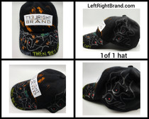 New One of one Hand detailed wearable art hats. Adult one size fits all.