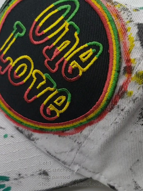 One Love 1 of 1 Hand Painted Hat