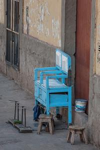 Cusco, banca de lustrabotas