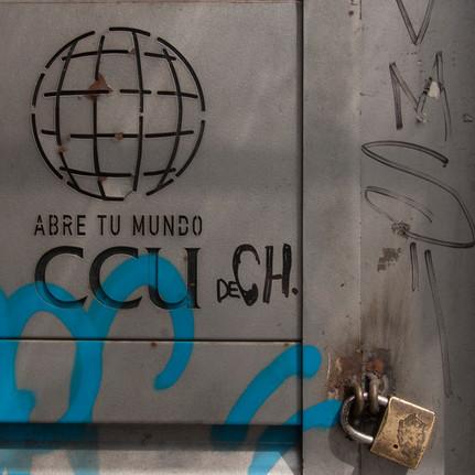 Grafiti en el centro de Santiago, Chile
