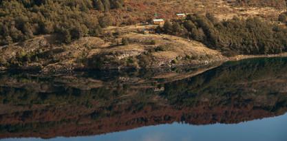 Lago cerca de Mallín Colorado