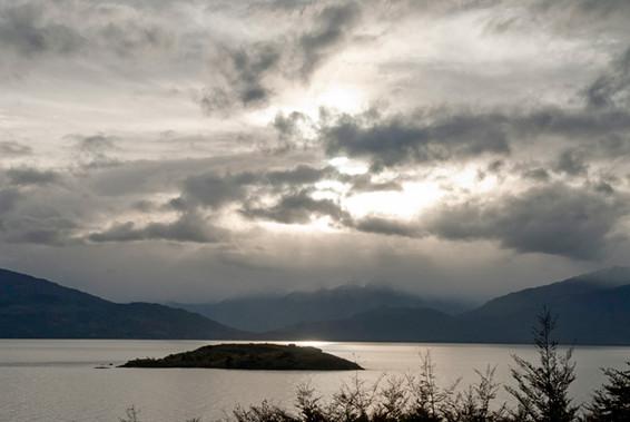 Lago General Carrera desde Mallín Colorado