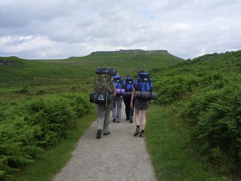 DofE group walking away
