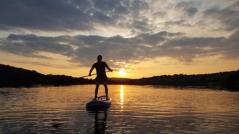 Stand Up Paddle Board in Sunset