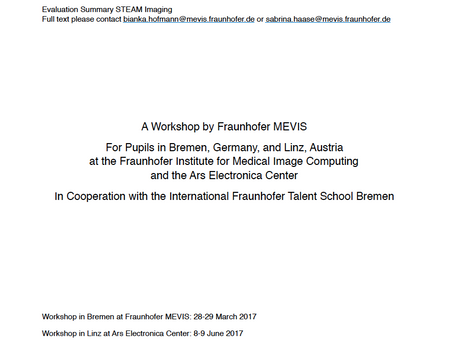 "Evaluation Results of the Pupils' Workshop ""STEAM Imaging: Art Meets Medical Research"" Published"