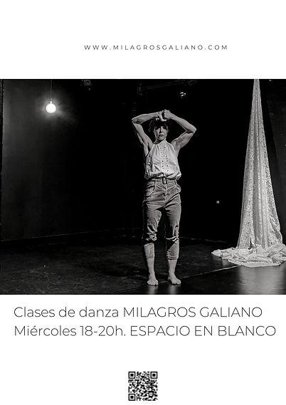 (4) CLASES DE DANZA MILAGROS ESPACIO EN