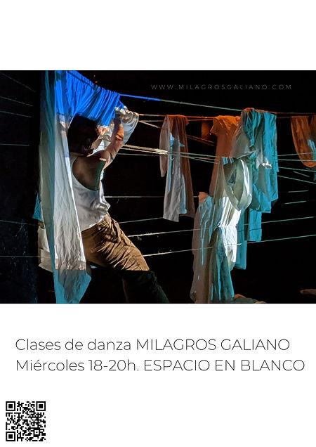 (2) CLASES DE DANZA MILAGROS ESPACIO EN