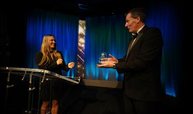 Studio TX awards presentation with standard backdrop