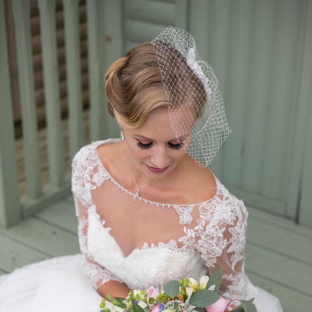 Kent wedding photographer Tonbridge wedding photography vintage wedding dress cutting edge brides