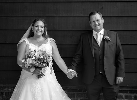 Rebecca & David's wedding at The Plough in Leigh